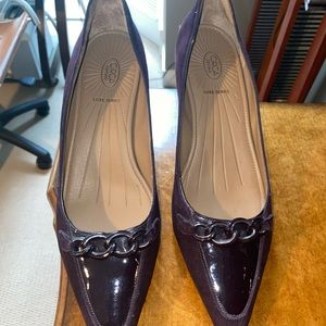 Purple Suede Pointed Joan and David Shoes